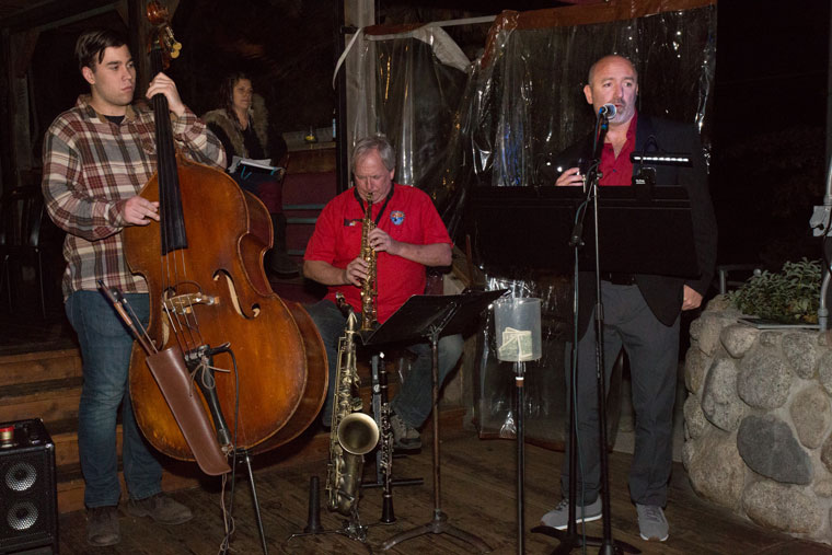 On Thursday, Nov. 10, Owen Zorn, Paul Carman and Bo Dagnall performed at Jazz Poetry Night at Café Aroma. Photo by Peter Szabadi