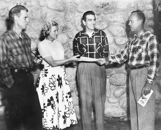 The first conservation group at Idyllwild School of Music and the Arts in 1952. Town Crier founder and conservationist Ernie Maxwell is at left. File photo