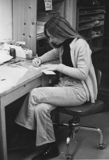 Barbara Bolt working at the Town Crier in 1972.File photo