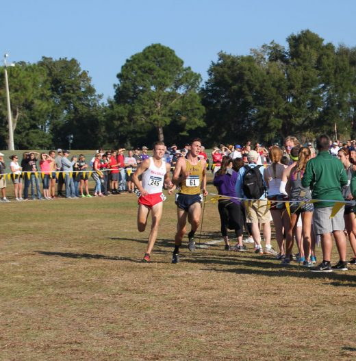 Jayden Emerson, a sophomore at California Baptist University and from Idyllwild, finished 86th in the National Cross-County Championship for the National Collegiate Athletic Association's Division 2. The team finished 15th and Emerson had the second best time for the team in the 10-kilometer race. Photo by Jessica Priefer