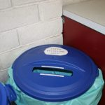 New recycling bins in post office lobby