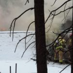 Chimney fire damages house on Strong Drive