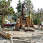 Idyllwild monument sign damaged by apparent car collission