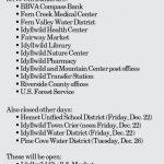 Holiday Closings: December 21, 2017