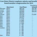 Pine Cove Water District 2016 salaries and compensation
