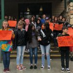 Local students express support for Parkland victims