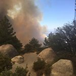 Report of fire on Highway 74