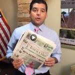 Ruiz, urged by Town Crier, helps end newsprint tariff