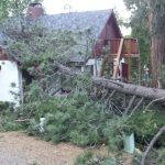 Rain, wind and lightning, electric outage