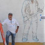 Outdoor mural is tribute to local firefighters