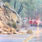 Rockslide on Hwy 243 just south of Idyllwild