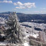 Winter rain and snow  keep falling in Idyllwild area