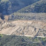 Highway 74 being repaired, hillsides less vertical