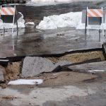 Rains damage local county roads