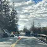 Boulders on Highway 74 close one lane
