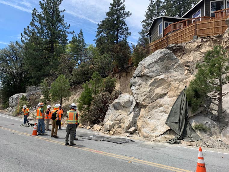 Major repairs and reconstruction continue on Highway 243 • Idyllwild