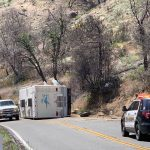 CLEARED: Overturned motorhome blocking lane on Highway 74 at Keen Camp