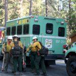 A quarter-acre fire ignited off  Ernie Maxwell Trail