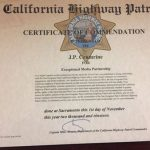 JP Crumrine receives certificate of commendation from CHP