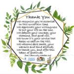 'Tokens of Gratitude'