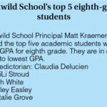 Idyllwild School 8th grade graduates