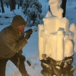 Local sculptor takes talent to the sand and snow