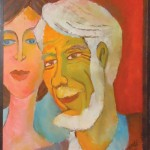 Self-portrait with Betty  Maxwell (1973), belongs to Idyllwild Area Historical Society